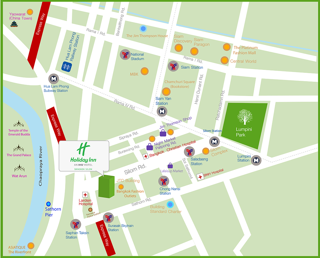 """Bangkok Holiday Inn Map"""